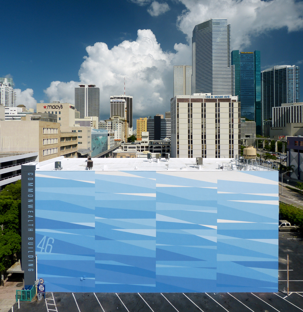 Commonwealth Building - Miami, Florida - Finished Mural