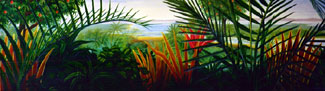 Tropical Landscape Mural