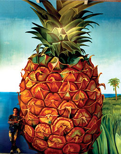Pineapple Detail from Larger Mural in Denmark